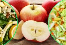 სალათები ვაშლით ნამდვილი ვიტამინების ბომბაა: 10 ყველაზე წვნიანი, მსუბუქი და სასარგებლო